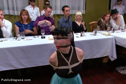 Photo number 1 from Nerine Mechanique served up and fucked at a dinner soiree! shot for Public Disgrace on Kink.com. Featuring Nerine Mechanique and Bill Bailey in hardcore BDSM & Fetish porn.