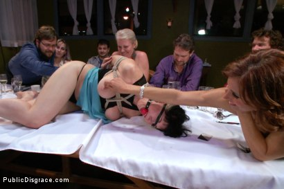 Photo number 4 from Nerine Mechanique served up and fucked at a dinner soiree! shot for Public Disgrace on Kink.com. Featuring Nerine Mechanique and Bill Bailey in hardcore BDSM & Fetish porn.
