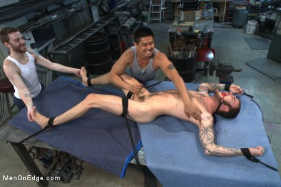 Photo number 11 from Mechanic edged by his own tools shot for Men On Edge on Kink.com. Featuring Christian Wilde in hardcore BDSM & Fetish porn.