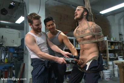 Photo number 13 from Mechanic edged by his own tools shot for Men On Edge on Kink.com. Featuring Christian Wilde in hardcore BDSM & Fetish porn.