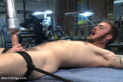 Photo number 9 from Mechanic edged by his own tools shot for Men On Edge on Kink.com. Featuring Christian Wilde in hardcore BDSM & Fetish porn.