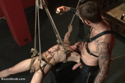 Photo number 9 from Sir, may I cum today? shot for Bound Gods on Kink.com. Featuring Christian Wilde and Randall O'Reilly in hardcore BDSM & Fetish porn.