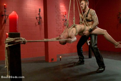 Photo number 14 from Sir, may I cum today? shot for Bound Gods on Kink.com. Featuring Christian Wilde and Randall O'Reilly in hardcore BDSM & Fetish porn.
