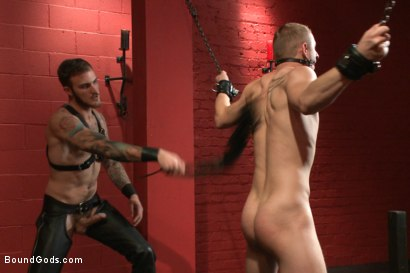 Photo number 4 from Sir, may I cum today? shot for Bound Gods on Kink.com. Featuring Christian Wilde and Randall O'Reilly in hardcore BDSM & Fetish porn.