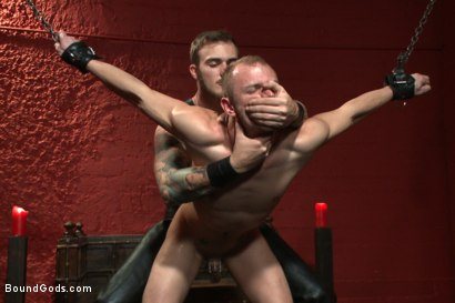 Photo number 5 from Sir, may I cum today? shot for Bound Gods on Kink.com. Featuring Christian Wilde and Randall O'Reilly in hardcore BDSM & Fetish porn.