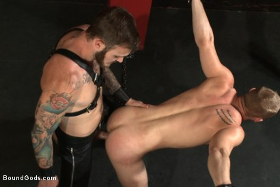 Photo number 6 from Sir, may I cum today? shot for Bound Gods on Kink.com. Featuring Christian Wilde and Randall O'Reilly in hardcore BDSM & Fetish porn.