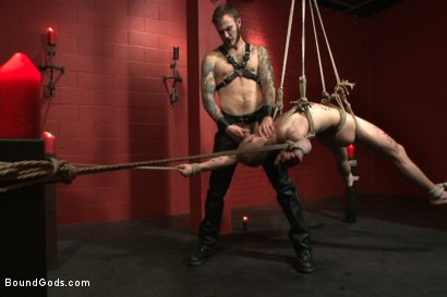 Photo number 11 from Sir, may I cum today? shot for Bound Gods on Kink.com. Featuring Christian Wilde and Randall O'Reilly in hardcore BDSM & Fetish porn.