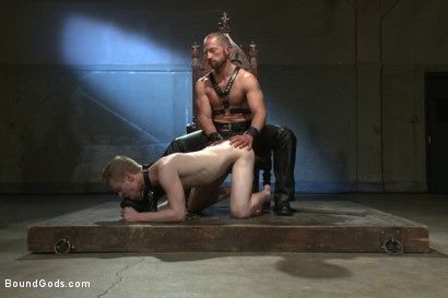 Photo number 5 from Mr Herst torments and fucks slave #860 locked in chastity  shot for Bound Gods on Kink.com. Featuring Adam Herst and Liam Harkmoore in hardcore BDSM & Fetish porn.