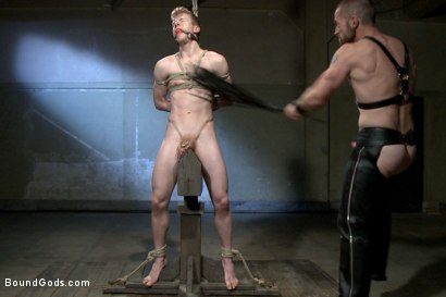Photo number 12 from Mr Herst torments and fucks slave #860 locked in chastity  shot for Bound Gods on Kink.com. Featuring Adam Herst and Liam Harkmoore in hardcore BDSM & Fetish porn.