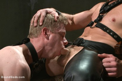Photo number 8 from Mr Herst torments and fucks slave #860 locked in chastity  shot for Bound Gods on Kink.com. Featuring Adam Herst and Liam Harkmoore in hardcore BDSM & Fetish porn.