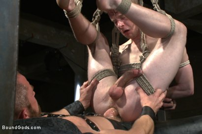 Photo number 14 from Mr Herst torments and fucks slave #860 locked in chastity  shot for Bound Gods on Kink.com. Featuring Adam Herst and Liam Harkmoore in hardcore BDSM & Fetish porn.