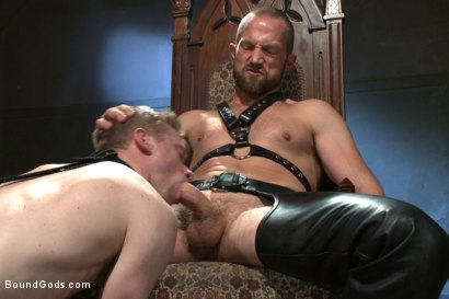 Photo number 7 from Mr Herst torments and fucks slave #860 locked in chastity  shot for Bound Gods on Kink.com. Featuring Adam Herst and Liam Harkmoore in hardcore BDSM & Fetish porn.