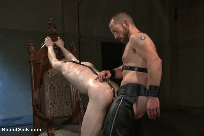 Photo number 10 from Mr Herst torments and fucks slave #860 locked in chastity  shot for Bound Gods on Kink.com. Featuring Adam Herst and Liam Harkmoore in hardcore BDSM & Fetish porn.