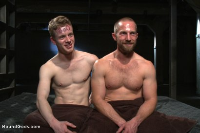 Photo number 15 from Mr Herst torments and fucks slave #860 locked in chastity  shot for Bound Gods on Kink.com. Featuring Adam Herst and Liam Harkmoore in hardcore BDSM & Fetish porn.