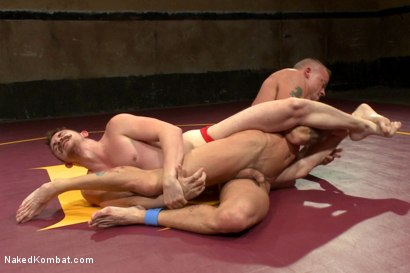 """Photo number 5 from Dayton """"The D.O.C."""" O'Connor VS Sean """"Dynamite"""" Duran  shot for Naked Kombat on Kink.com. Featuring Sean Duran and Dayton O'Connor in hardcore BDSM & Fetish porn."""