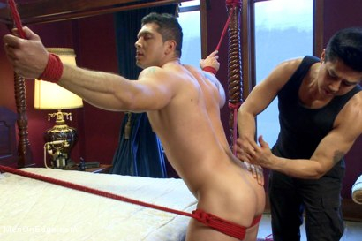 Photo number 10 from Straight bodybuilder first boy boy experience shot for Men On Edge on Kink.com. Featuring Liam Santiago in hardcore BDSM & Fetish porn.