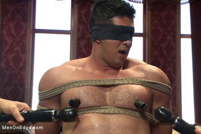Photo number 3 from Straight bodybuilder first boy boy experience shot for Men On Edge on Kink.com. Featuring Liam Santiago in hardcore BDSM & Fetish porn.