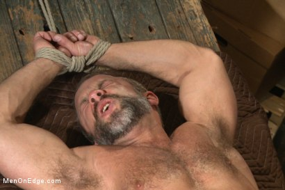 Photo number 11 from Muscled hunk taken and edged against his will  shot for Men On Edge on Kink.com. Featuring Dirk Caber in hardcore BDSM & Fetish porn.