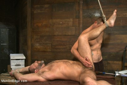 Photo number 10 from Muscled hunk taken and edged against his will  shot for Men On Edge on Kink.com. Featuring Dirk Caber in hardcore BDSM & Fetish porn.