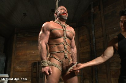 Photo number 5 from Muscled hunk taken and edged against his will  shot for Men On Edge on Kink.com. Featuring Dirk Caber in hardcore BDSM & Fetish porn.