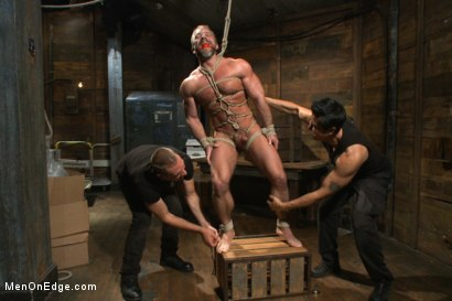 Photo number 8 from Muscled hunk taken and edged against his will  shot for Men On Edge on Kink.com. Featuring Dirk Caber in hardcore BDSM & Fetish porn.