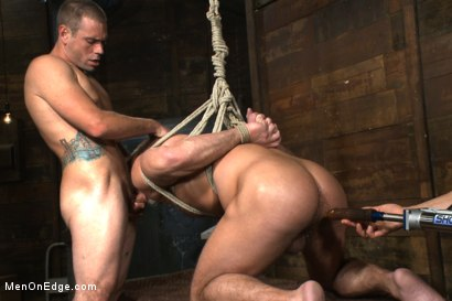 Photo number 13 from Muscled hunk taken and edged against his will  shot for Men On Edge on Kink.com. Featuring Dirk Caber in hardcore BDSM & Fetish porn.