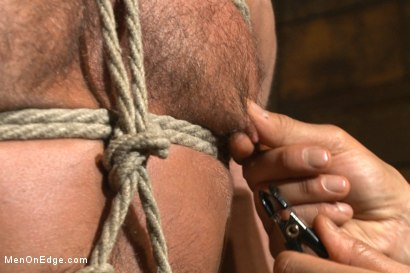 Photo number 7 from Muscled hunk taken and edged against his will  shot for Men On Edge on Kink.com. Featuring Dirk Caber in hardcore BDSM & Fetish porn.