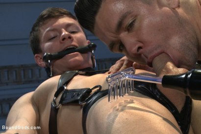 Photo number 12 from Onyx Recruit shot for boundgods on Kink.com. Featuring Tyler Sweet and Trenton Ducati in hardcore BDSM & Fetish porn.