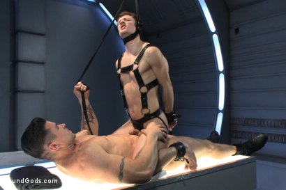 Photo number 13 from Onyx Recruit shot for boundgods on Kink.com. Featuring Tyler Sweet and Trenton Ducati in hardcore BDSM & Fetish porn.