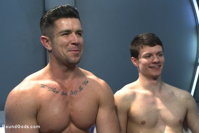 Photo number 15 from Onyx Recruit shot for boundgods on Kink.com. Featuring Tyler Sweet and Trenton Ducati in hardcore BDSM & Fetish porn.