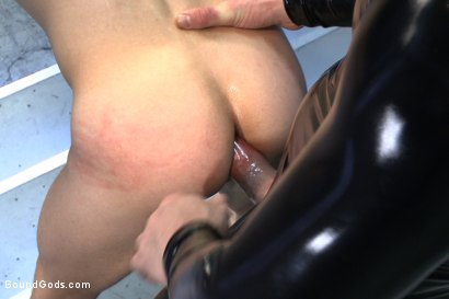 Photo number 7 from Onyx Recruit shot for boundgods on Kink.com. Featuring Tyler Sweet and Trenton Ducati in hardcore BDSM & Fetish porn.