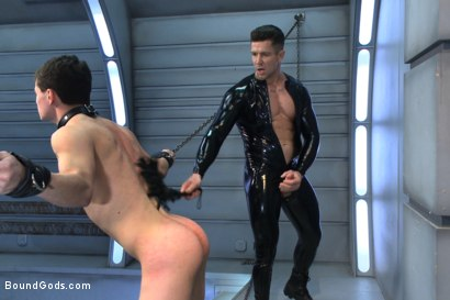 Photo number 10 from Onyx Recruit shot for boundgods on Kink.com. Featuring Tyler Sweet and Trenton Ducati in hardcore BDSM & Fetish porn.