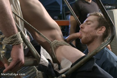 Photo number 2 from Straight stud with a giant cock relentlessly edged against his will shot for Men On Edge on Kink.com. Featuring Jay Rising in hardcore BDSM & Fetish porn.