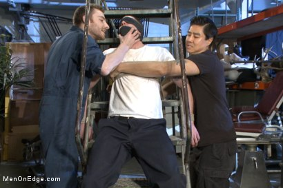 Photo number 1 from Straight stud with a giant cock relentlessly edged against his will shot for Men On Edge on Kink.com. Featuring Jay Rising in hardcore BDSM & Fetish porn.