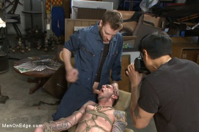 Photo number 6 from Straight stud with a giant cock relentlessly edged against his will shot for Men On Edge on Kink.com. Featuring Jay Rising in hardcore BDSM & Fetish porn.