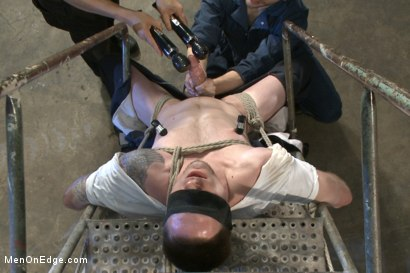 Photo number 3 from Straight stud with a giant cock relentlessly edged against his will shot for Men On Edge on Kink.com. Featuring Jay Rising in hardcore BDSM & Fetish porn.