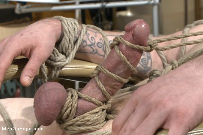 Photo number 7 from Straight stud with a giant cock relentlessly edged against his will shot for Men On Edge on Kink.com. Featuring Jay Rising in hardcore BDSM & Fetish porn.
