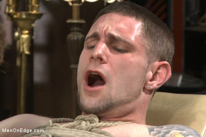 Photo number 13 from Straight stud with a giant cock relentlessly edged against his will shot for Men On Edge on Kink.com. Featuring Jay Rising in hardcore BDSM & Fetish porn.