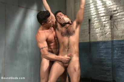 Photo number 11 from A helpless vagrant gets hosed down and fucked by the creepy handyman shot for Bound Gods on Kink.com. Featuring Trenton Ducati and Rich Kelly in hardcore BDSM & Fetish porn.
