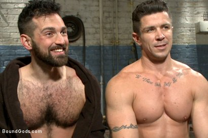 Photo number 15 from A helpless vagrant gets hosed down and fucked by the creepy handyman shot for Bound Gods on Kink.com. Featuring Trenton Ducati and Rich Kelly in hardcore BDSM & Fetish porn.