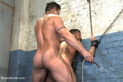 Photo number 10 from A helpless vagrant gets hosed down and fucked by the creepy handyman shot for Bound Gods on Kink.com. Featuring Trenton Ducati and Rich Kelly in hardcore BDSM & Fetish porn.