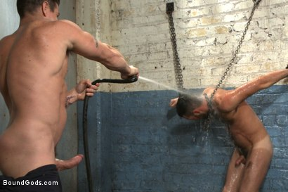 Photo number 6 from A helpless vagrant gets hosed down and fucked by the creepy handyman shot for Bound Gods on Kink.com. Featuring Trenton Ducati and Rich Kelly in hardcore BDSM & Fetish porn.