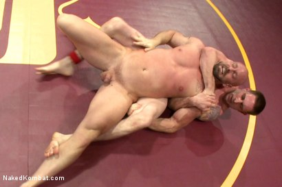 """Photo number 9 from Jay """"Slick-Dick"""" Rising vs Mitch """"The Machine"""" Vaughn  shot for Naked Kombat on Kink.com. Featuring Jay Rising and Mitch Vaughn in hardcore BDSM & Fetish porn."""