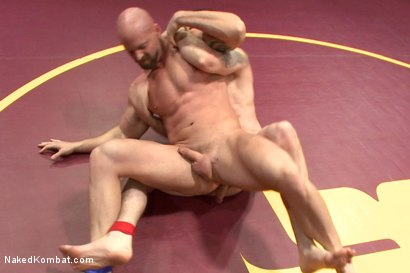 "Photo number 7 from Jay ""Slick-Dick"" Rising vs Mitch ""The Machine"" Vaughn  shot for Naked Kombat on Kink.com. Featuring Jay Rising and Mitch Vaughn in hardcore BDSM & Fetish porn."