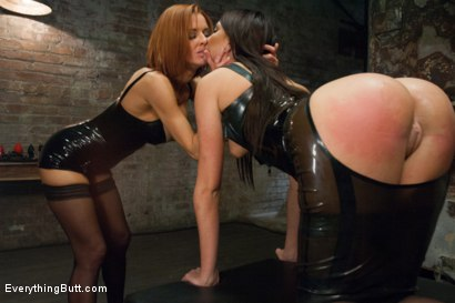 Photo number 2 from Anal Slave gets Dominated by Sexy Mistress in Latex shot for Everything Butt on Kink.com. Featuring Cassandra Nix and Veronica Avluv in hardcore BDSM & Fetish porn.