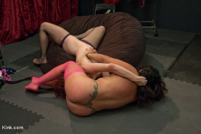 Photo number 9 from STRIPPER BITCH FIGHT. These girls fuck each other up shot for Kink Test Shoots on Kink.com. Featuring Izamar Gutierrez and Bella Rossi in hardcore BDSM & Fetish porn.
