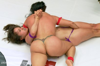 Photo number 5 from Exotic Wrestlers impose their will on each other. Aggressive wrestling shot for Ultimate Surrender on Kink.com. Featuring Milcah Halili and Izamar Gutierrez in hardcore BDSM & Fetish porn.