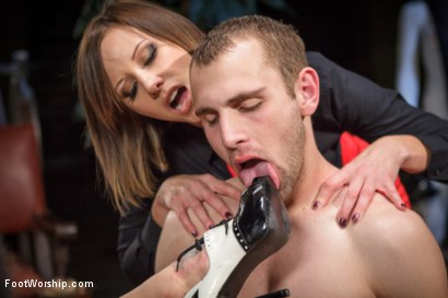 Photo number 11 from Obsessed foot fanatic punished and made to worship sweaty feet! shot for Foot Worship on Kink.com. Featuring Gia DiMarco, Blake and Maitresse Madeline Marlowe in hardcore BDSM & Fetish porn.