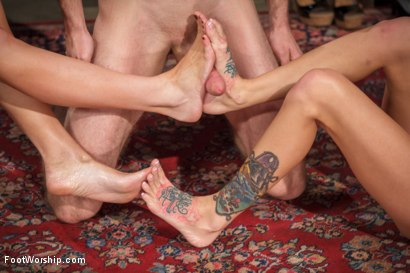 Photo number 10 from Obsessed foot fanatic punished and made to worship sweaty feet! shot for Foot Worship on Kink.com. Featuring Gia DiMarco, Blake and Maitresse Madeline Marlowe in hardcore BDSM & Fetish porn.