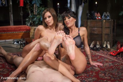 Obsessed foot fanatic punished and made to worship sweaty feet!
